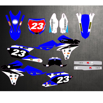 Free Customized Motorcycle Graphics Stickers Kit Decal For Yamaha YZ250F YZF250 2014 2015 2016 YZF450 YZ450F 14-16 YZF 250 450