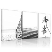 Настенная Картина на холсте с изображением пляжного пейзажа