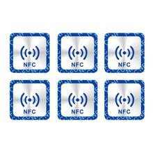 NFC Tags Stickers Label Phones RFID NFC213 for All-Nfc Universal 6pcs/Lot Adhesive Metallic