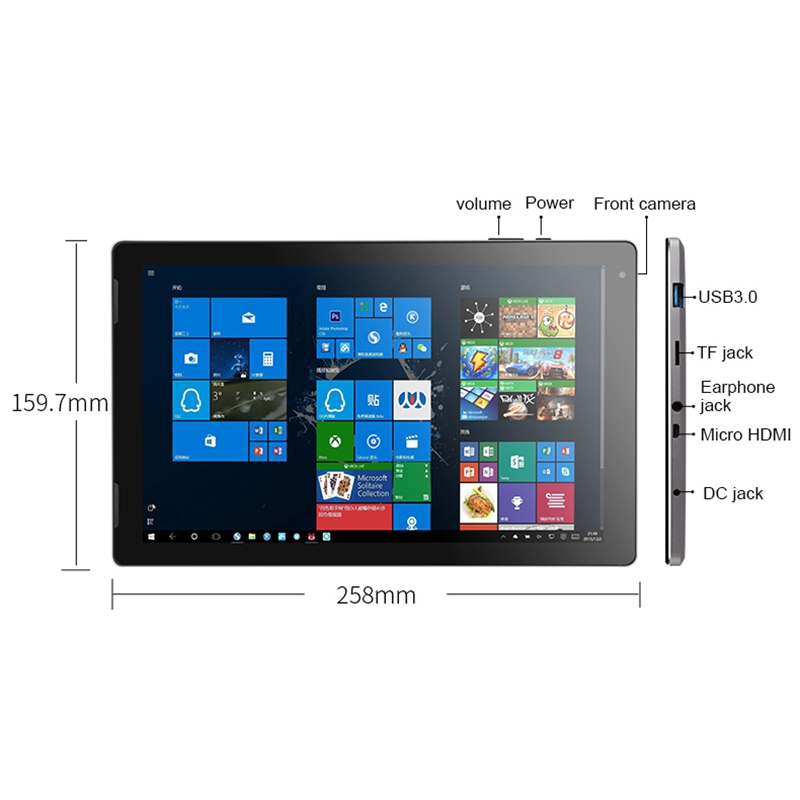 Image 3 - Джемпер Ezpad 7 2 в 1 планшетный ПК 10,1 дюймов Fhd Ips экран Cherry Trail X5 Z8350 4 ГБ Ddr3 64 Гб Emmc Windows 10 планшетный ПКПланшеты    АлиЭкспресс