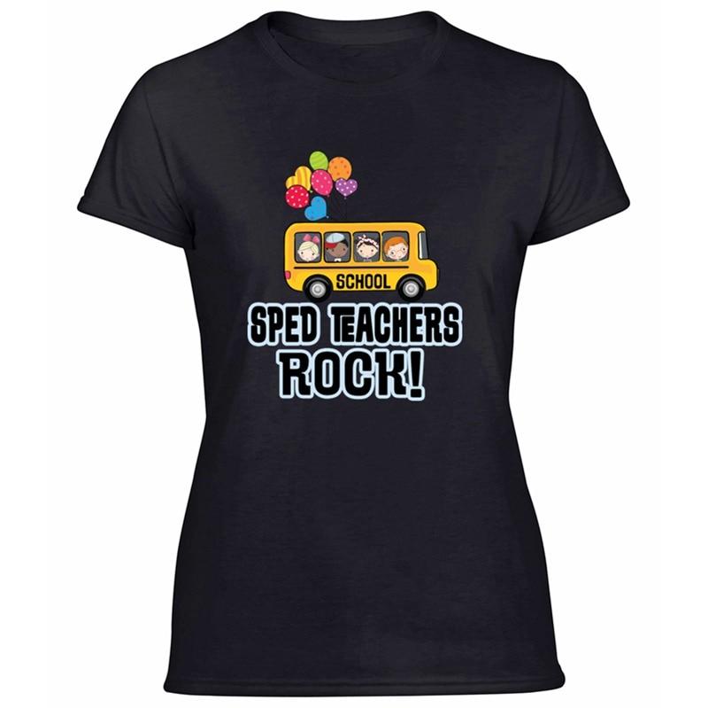 Nuevo Modelo de verano camiseta de Rock para profesores de Sped 100% de algodón graciosas camisetas de manga corta de color verde militar para hombres y mujeres