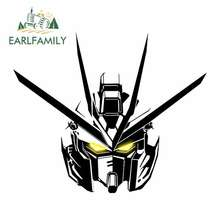 EARLFAMILY 13cm x 9.8cm GUNDAM Car Sticker Accessories Helmet Motorcycle JDM Polyethylene Sunscreen Waterproof Oem Cartoon