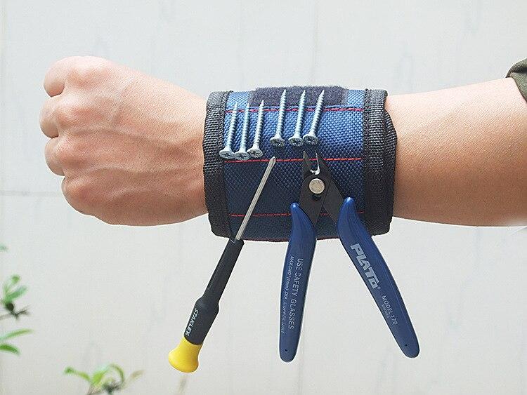 Набор магнитных браслетов, аксессуары для электрика, магнитный Набор, адсорбционный винт, магнитный браслет title=