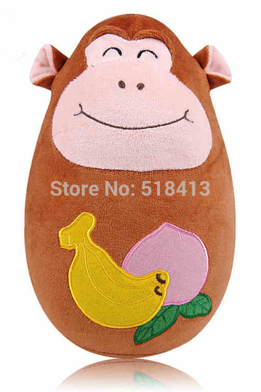 Inflatable Animal Vertical Monkey Tumbler Inflatable Baby Toys Built Bell Unisex Puppets Sports Flannel Model