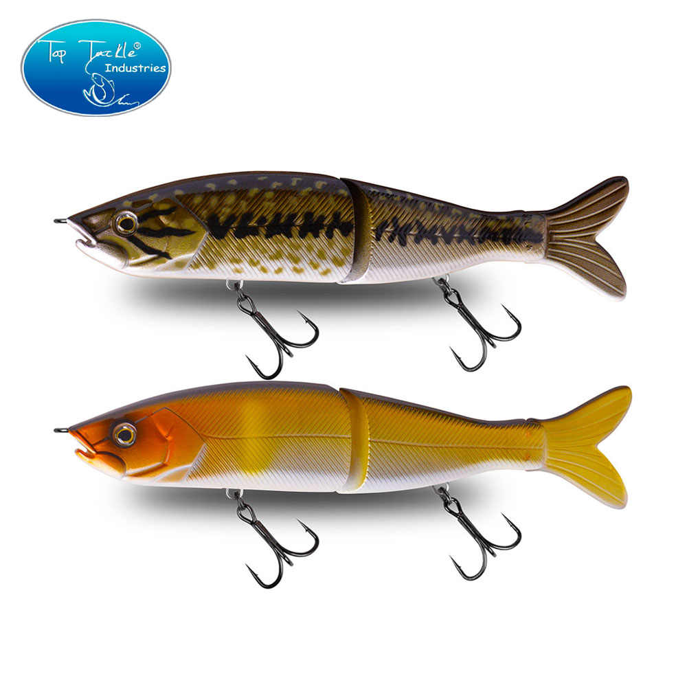 "CFLure 160mm 50g  6.2"" 1.7oz  Slow Sinking S-waver Minnow Segment Jointed Lure Jerk Bait Swimbait  4colors"