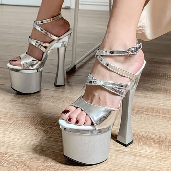 Karinluna New Lady Extreme High Heels Shoes Women Summer Platform Sexy Party Nightclub Sandals Woman