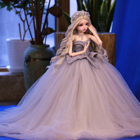 1/3 BJD Dolls Mechanical Joints Wedding Dress Doll Set Cinderella Full Clothes without Dolls