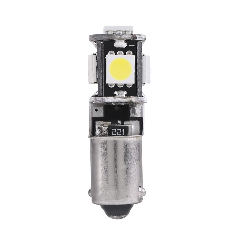 <font><b>10</b></font> Pcs <font><b>5050</b></font> 5SMD BA9S Car LED Interior Dome Reading Light Licence Plate Lamp Bulbs White Powered By 12V DC image