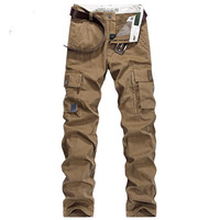 Autumn Winter AFS JEEP Military Cargo Army Military Pants Men's Pockets Design Breathable and comfortable Cotton Men Clothing