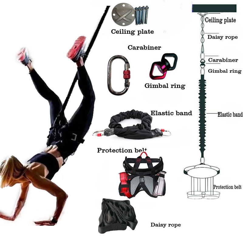 Bungee Dance Fitness Training Aerial Yoga Cord Pilates Elastic Suspension Sling Trainer Pull Rope