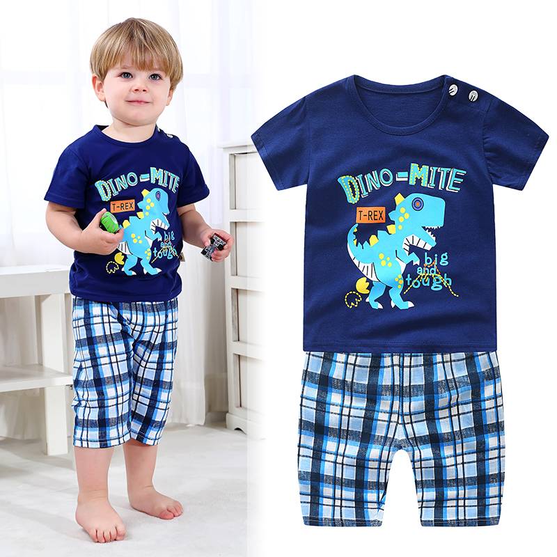 2020 New summer baby clothing 0-4 year baby boys & girls clothing sets casual cartoon print sets for baby child