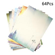 64pcs Chinese Style Retro Writing Paper Vintage Letter Paper Stationery Sets (Mixed Pattern)