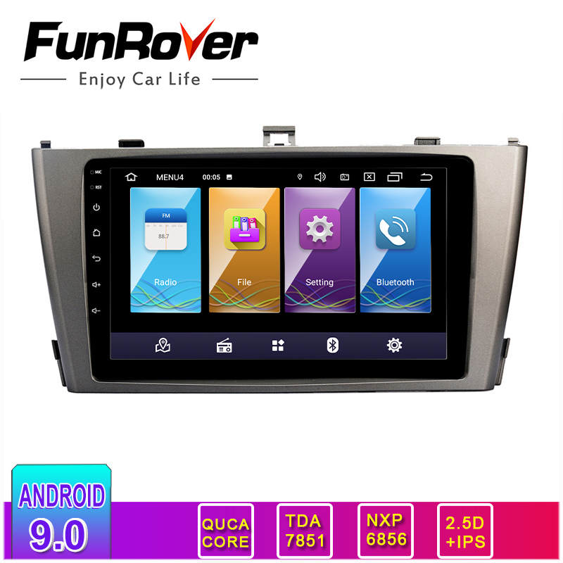 FUNROVER 2.5D+IPS <font><b>Android</b></font> 9.0 2 Din Car DVD Stereo Multimedia For Avensis <font><b>T25</b></font> 2003 2004 2005 2006 2007 2008 radio Video Player image