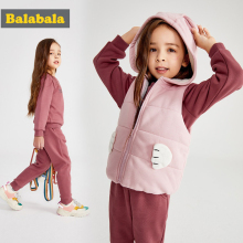 Balabala Toddler Girls Clothes set kids Autumn Winter coat+Pants Christmas clothes printed Outfits Sport Suit Children