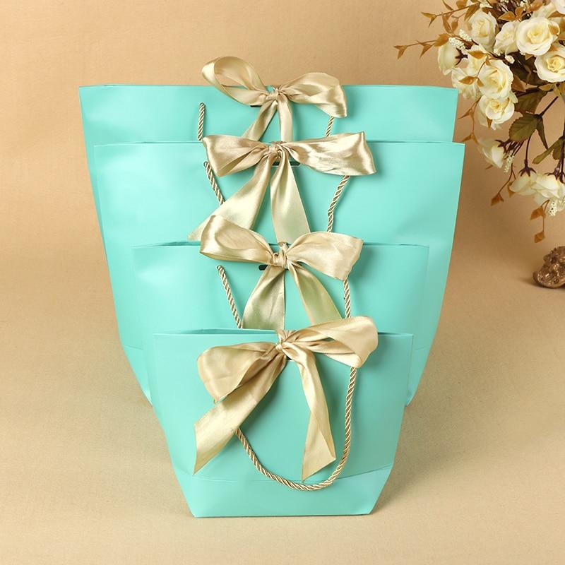 Большой размер Черный подарок коробка для пижам одежда книги упаковка золотая ручка бумажная коробка сумки Подарочный пакет из крафт бумаги с ручками - 3