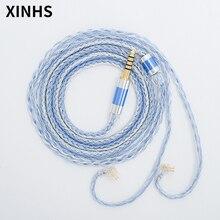 24 çekirdekli gümüş kaplama bakır kulaklık kablosu 2.5mm 3.5mm 4.4mm Pin fiş ses kablosu HIFI kulaklık yükseltme kablosu