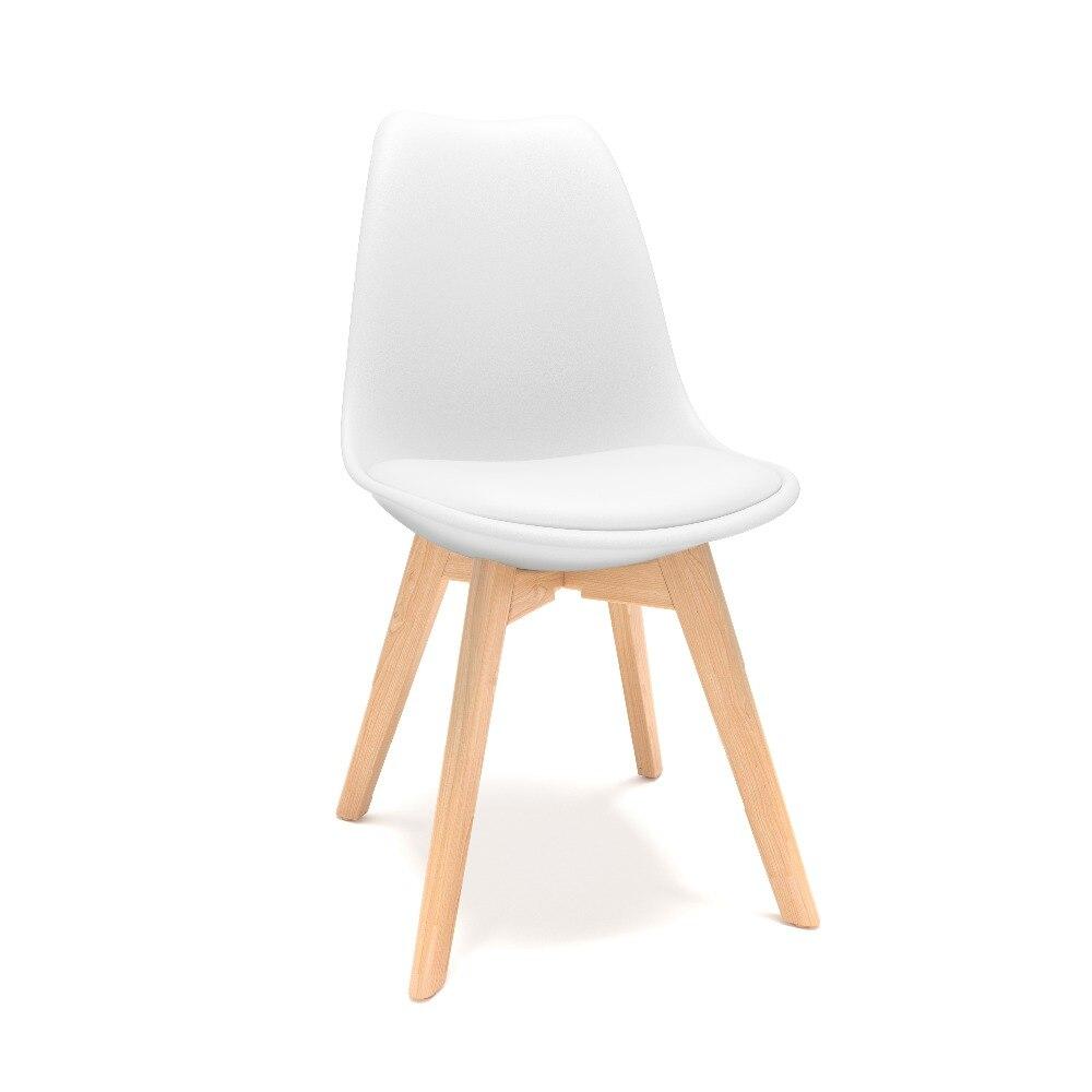 伊姆斯椅子郁金香白色(角度1)