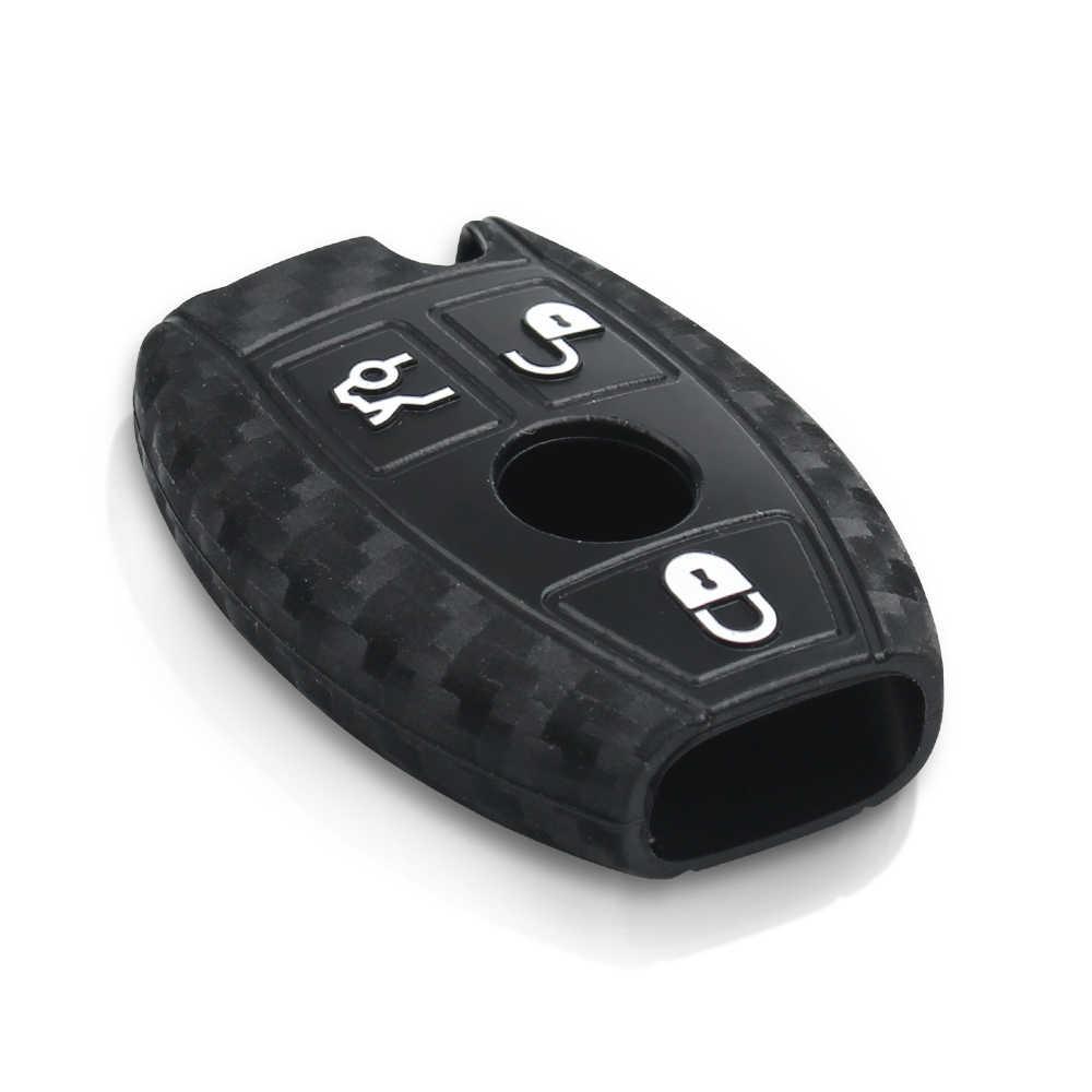 Keyyou Ốp Carbon Ô Tô Điều Khiển Từ Xa Chìa Khóa Dành Cho Xe Mercedes Benz Năm 2000 + NEC & BGA E S CL CLS CLA CLK W203 W210