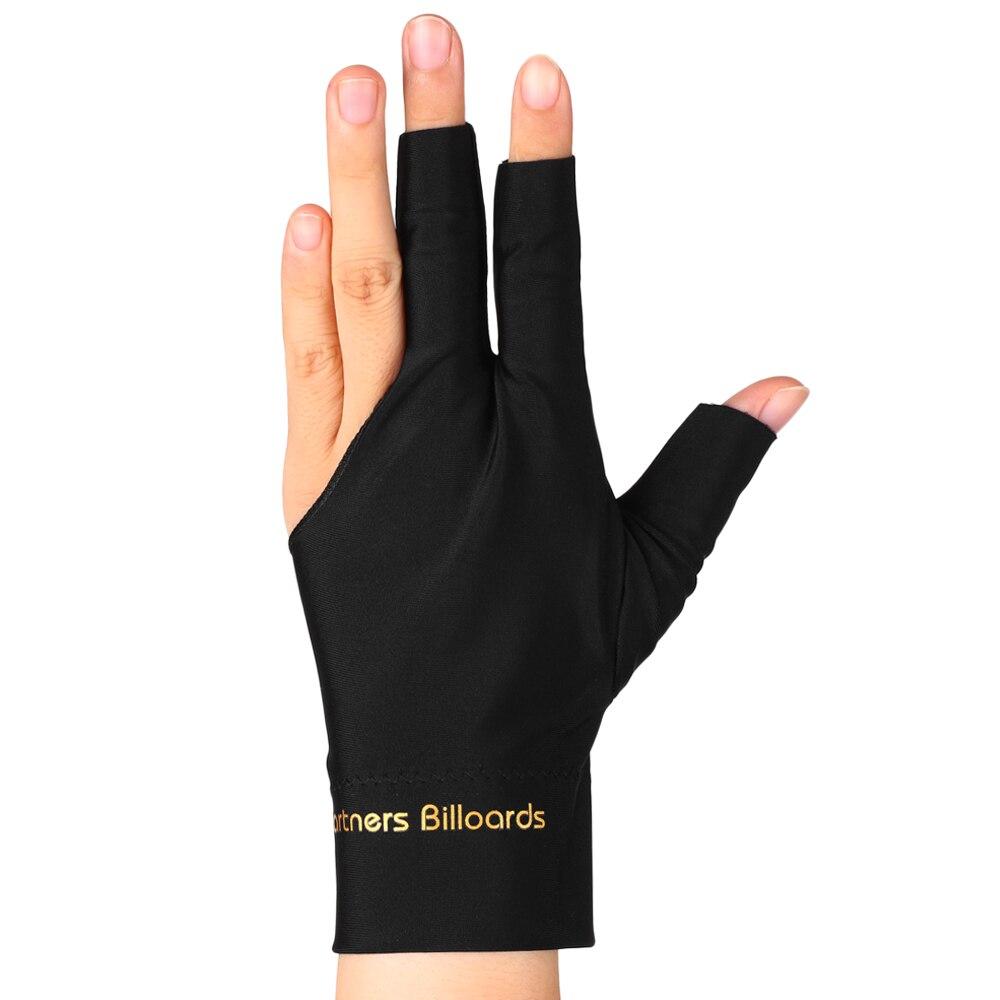 3 PCS Absorbent Billiard Gloves Three Fingers Spandex Cue Sport Glove Left Right Hand Billiard Cue Shooter Glove