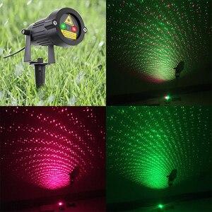 Image 3 - Proyector láser de estrellas, luces navideñas rojas y verdes, parpadeo estático con mando a distancia, impermeable, decoración de árboles para duchas de jardín al aire libre