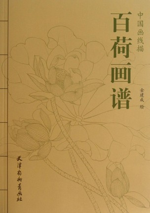 Chinese Line Drawing Painting Book For Lotus
