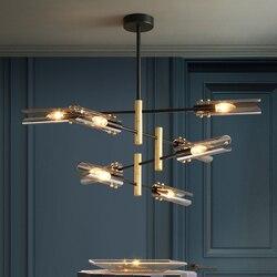 Nowoczesny szklany żyrandol luksusowe oddział żyrandol połysk oświetlenie LED salon dekoracji wnętrz