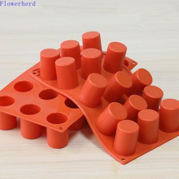 15-otwór cylindryczny formy silikonowe formy żywiczne ciasto kremówka Mold mydło wyrabiane ręcznie formy formy świec dla do odlewania świec kremówki formy tanie i dobre opinie CN (pochodzenie)