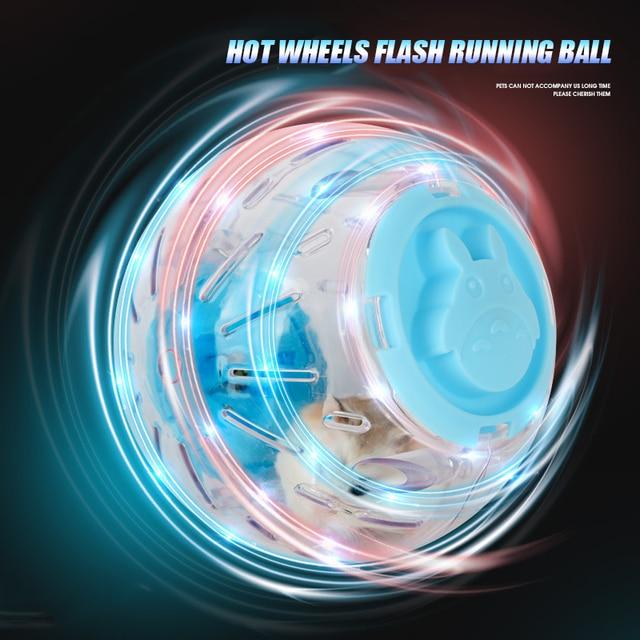 Upgrade Pet Hamster Guinea Pig Crystal Flashing Hot Wheel Sports Running Ball  2