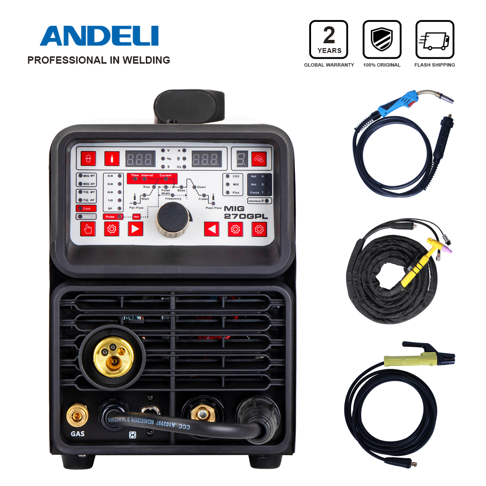 ANDELI Smart Multi-function Welding Machine MIG TIG MMA Cold and Flux Welding without Gas 4 in 1Multi-function Welding Machine(China)