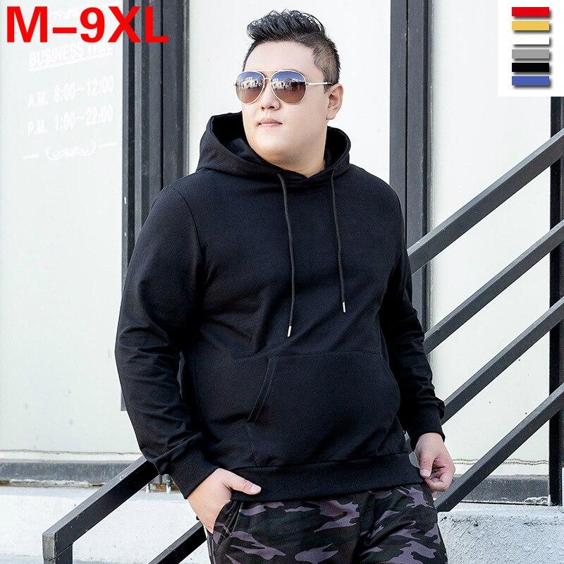 Plus Size 5xl 6xl 7xl 8xl 9xl Bust 148cm Men Sweatshirt Long Sleeve Men's Large Size Hoodie Large Size Sweatshirt Boy Sportswear