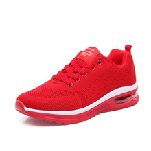 Women Shoes Fashion Sneakers Unisex Air Cushion Run Woman Low-cut Lace-up Vulcanize Lady Casual Loafers High Quality