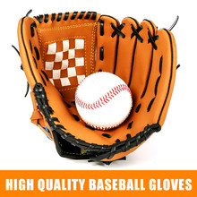 Baseball Bat Gloves Adult Kids Thick Imitate Cowhide Glove Outdoor Sports Softball Practice Baseball Gloves Size 10.5/11.5/12.5