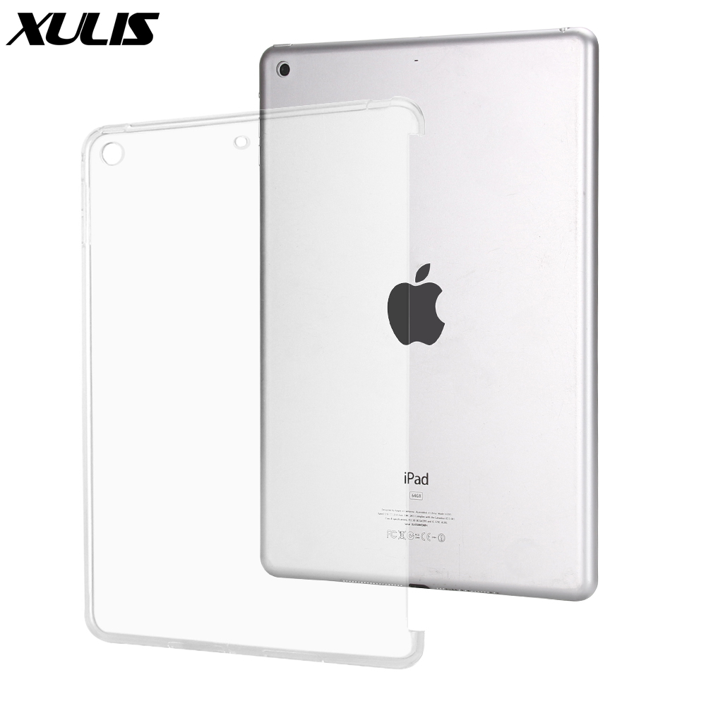 Shockproof Cover For ipad 9.7 2018 2017 Case Silicone TPU Back Cover for Apple ipad 6th Generation Case Fit for Smart Keyboard(China)