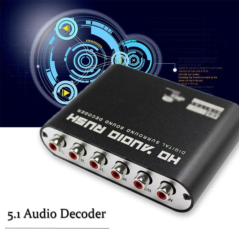 5.1 Audio Gear Digital to Analog Surround Sound Rush Decoder Converter HD