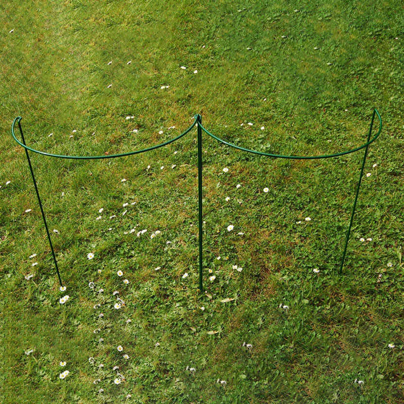 2 Pcs Flower Plant Support Stakes Semi Circular Metal Frame Professional for Garden QP2