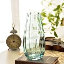 Creative Striped glass vase Tabletop vase decoration Flower Wedding decorative flower vase for home decoration ornament 10 e kayfun flower vase atomizer