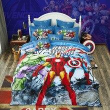 Disney Iron Man Hulk Captain America Baby Bedding Set Cotton Kids Boys Children Bedroom Decories Gift Duvet Cover Twin Queen