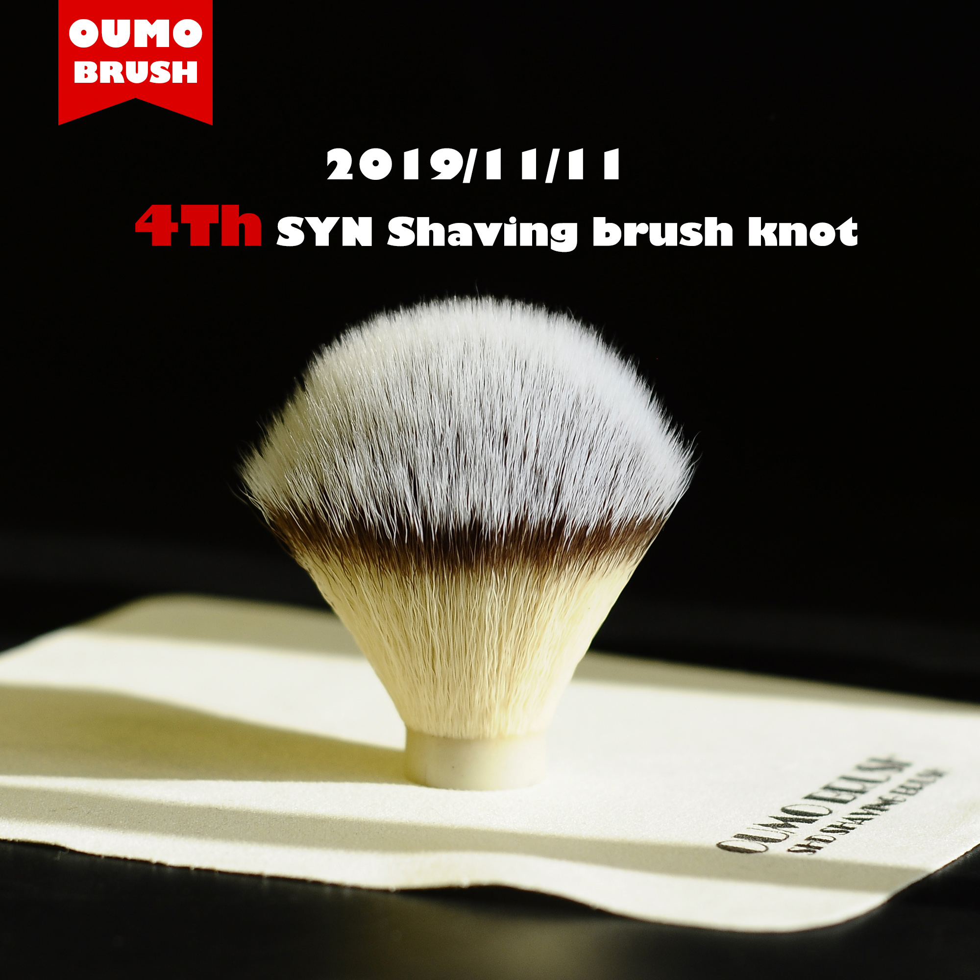 OUMO- Presale The 4th Synthetic Hair Shaving Brush Knots