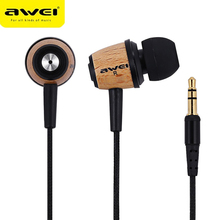 Awei Stereo Wired Headphone Headset In-Ear Earphone For Your In Ear Phone Bud iPhone Samsung PC Player Earbud Earpiece Sluchatka стоимость