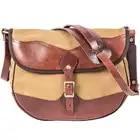 MAHEU Vintage Handmade Leather Shoulder Bag Leather Canvas Cross Body Bags For Men Male Cowhide Boy's School Bags Retro Men Bag - 5