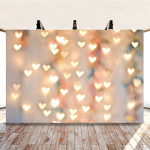 Yeele Glitter Shine Love Heart Light Bokeh Party Photography Backdrop Personalized Photographic Backgrounds For Photo Studio