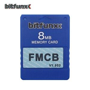 Image 5 - Bitfunx וידאו משחק זיכרון כרטיס V1.953 8MB/16MB/32MB/64MB משלוח McBoot FMCB עבור Playstation2 PS2 ססגוני