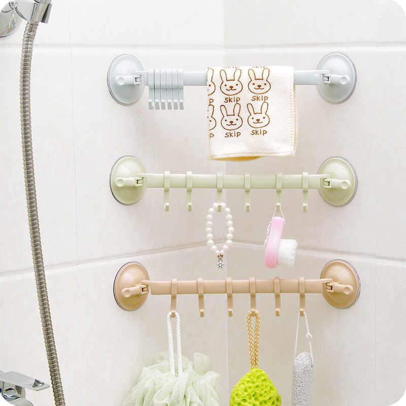 調整可能なフックラックダブル吸引カップタオルラックぶら下げ棚フックホルダーロックタイプ吸盤キッチン浴室付属品