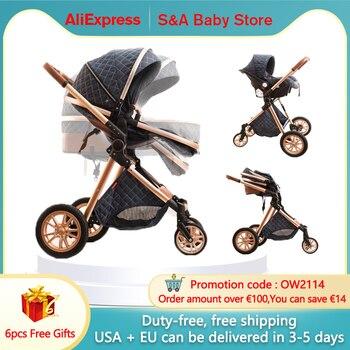 Transporte rápido frete grátis frete grátis carrinho de bebê alta paisagem nova 3in1 carrinho de bebê em 2021 1