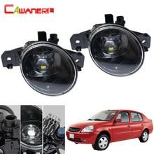 Cawanerl estilo do carro led luz de nevoeiro 4000lm diabo olho luz circulação diurna lâmpada drl h11 12v para nissan platina 2002-2010