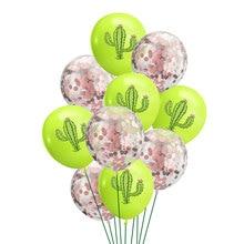 12inch Cactus Latex Balloons Happy Birthday Balloon Hawaii Beach Party Decoration Helium Balloon Baby Shower Party Balloons Toys 12inch dinosaur latex balloons brachiosaurus pterodactyl raptor balloon baby shower birthday party decoration helium kids toys