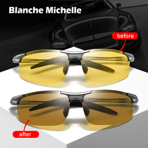 Image 1 - فوتوكروميك النظارات الشمسية الرجال الاستقطاب UV400 مكبرة رجل نظارات شمسية القيادة خمر حملق gafas دي سول 2020 مع صندوق Sunglasses Men Polarized