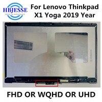 14 inch For Lenovo Thinkpad X1 Yoga 2019 NV140QUM N53 P/N:SD10Q66885 01YN122 14.0 inch 4K UHD IPS LCD Touchscreen Assembly