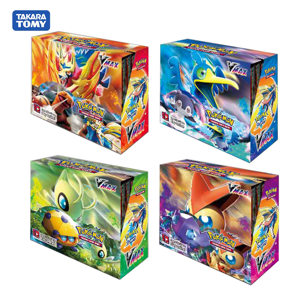 324pcs Pokemon Cards TCG:SHIELD&SWORD Vmax Booster Box Collectible Trading Card Game Card Toys For Boys