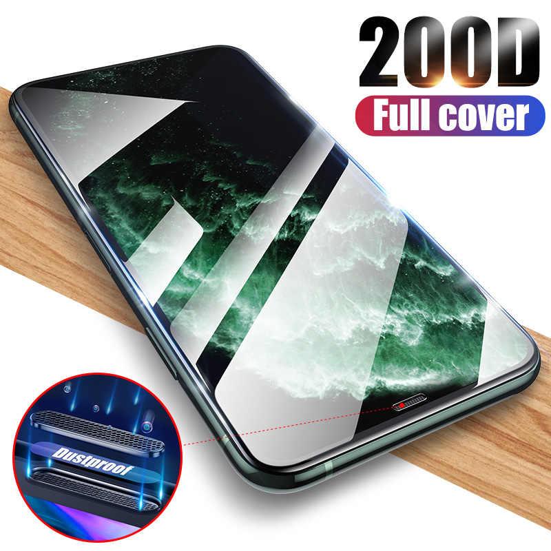 200D 防塵穴 Iphone X XS 11 プロマックス XR 強化ガラス iPhone 7 8 6 6s プラススクリーン Protecto